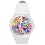 Anemones Round Plastic Sport Watch (M) Front