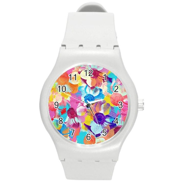 Anemones Round Plastic Sport Watch (M)