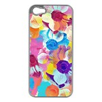 Anemones Apple iPhone 5 Case (Silver) Front