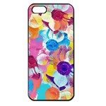 Anemones Apple iPhone 5 Seamless Case (Black) Front
