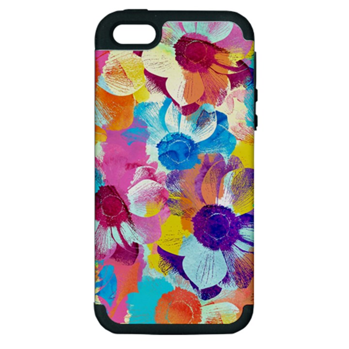 Anemones Apple iPhone 5 Hardshell Case (PC+Silicone)