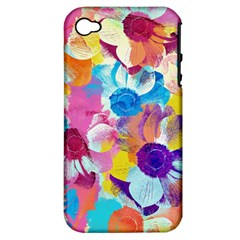 Anemones Apple iPhone 4/4S Hardshell Case (PC+Silicone)