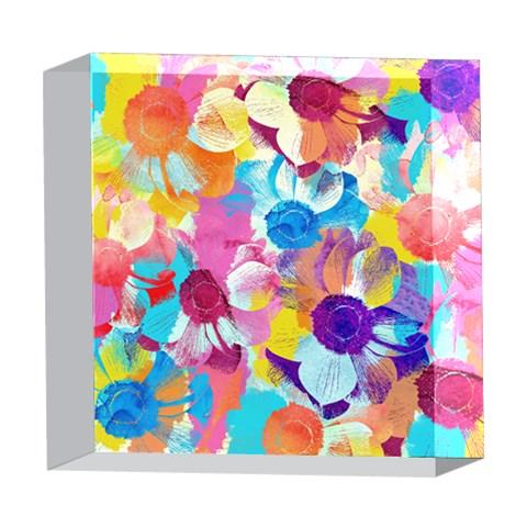 Anemones 5  x 5  Acrylic Photo Blocks