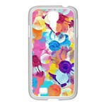 Anemones Samsung GALAXY S4 I9500/ I9505 Case (White) Front