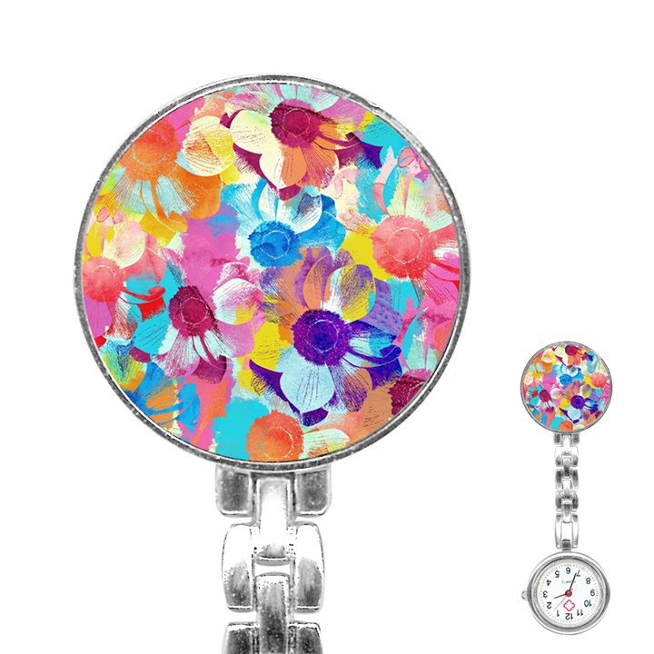 Anemones Stainless Steel Nurses Watch