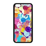 Anemones Apple iPhone 5C Seamless Case (Black) Front