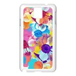 Anemones Samsung Galaxy Note 3 N9005 Case (White) Front