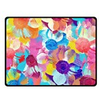 Anemones Double Sided Fleece Blanket (Small)  50 x40 Blanket Back