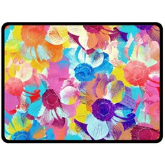 Anemones Double Sided Fleece Blanket (Large)