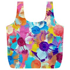 Anemones Full Print Recycle Bags (l)
