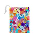 Anemones Drawstring Pouches (Medium)  Back
