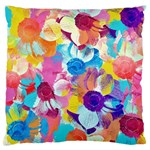 Anemones Large Flano Cushion Case (Two Sides) Back