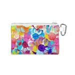 Anemones Canvas Cosmetic Bag (S) Back