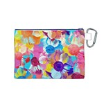 Anemones Canvas Cosmetic Bag (M) Back