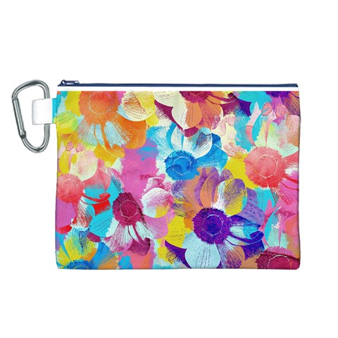 Anemones Canvas Cosmetic Bag (L)