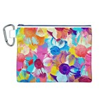 Anemones Canvas Cosmetic Bag (L) Front