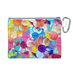 Anemones Canvas Cosmetic Bag (L) Back