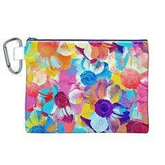 Anemones Canvas Cosmetic Bag (XL)