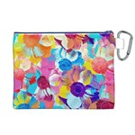 Anemones Canvas Cosmetic Bag (XL) Back