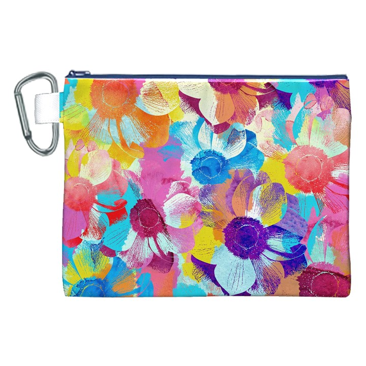 Anemones Canvas Cosmetic Bag (XXL)