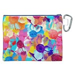 Anemones Canvas Cosmetic Bag (XXL) Back