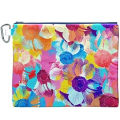 Anemones Canvas Cosmetic Bag (XXXL)