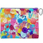 Anemones Canvas Cosmetic Bag (XXXL) Back
