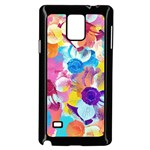 Anemones Samsung Galaxy Note 4 Case (Black) Front