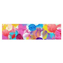 Anemones Satin Scarf (oblong)