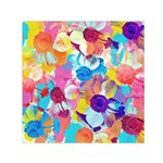 Anemones Small Satin Scarf (Square)  Front