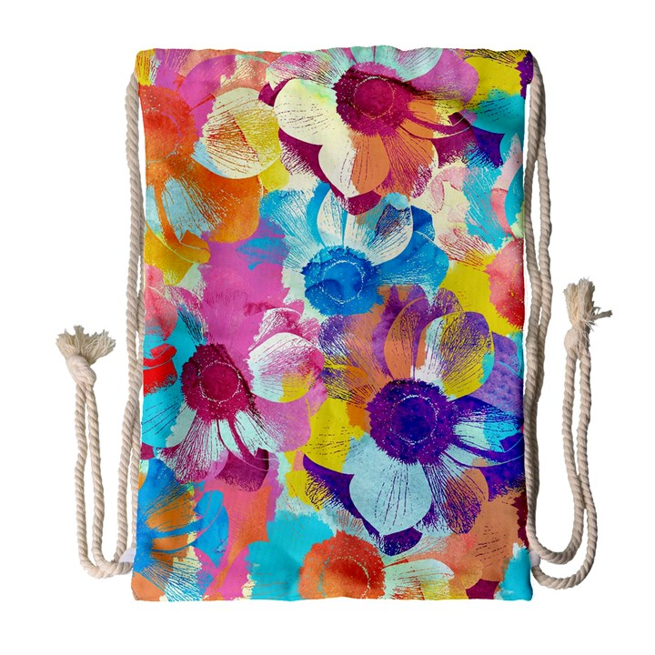 Anemones Drawstring Bag (Large)