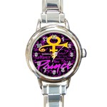 Prince Poster Round Italian Charm Watch Front