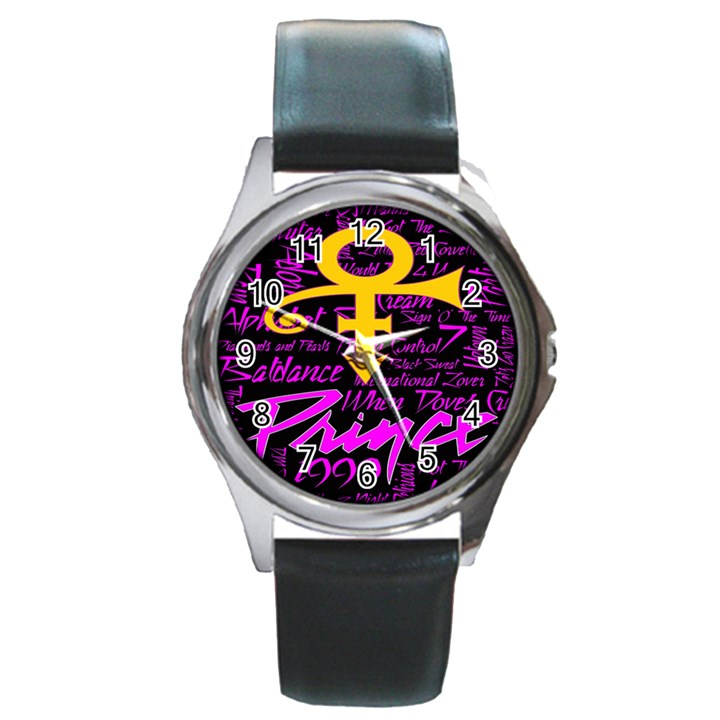 Prince Poster Round Metal Watch