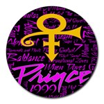 Prince Poster Round Mousepads Front