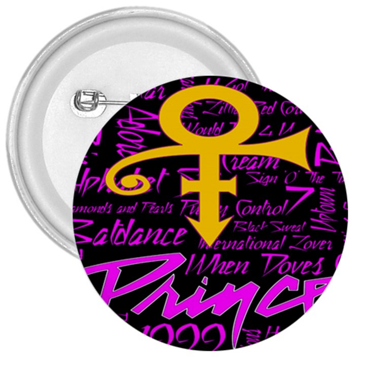Prince Poster 3  Buttons