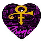 Prince Poster Ornament (Heart)  Front