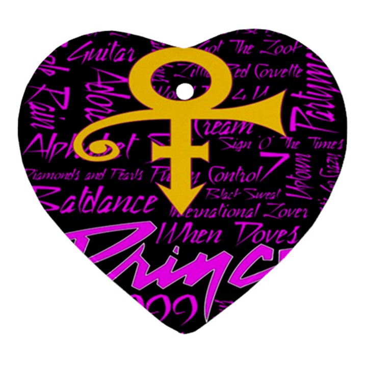 Prince Poster Ornament (Heart)