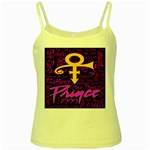 Prince Poster Yellow Spaghetti Tank Front