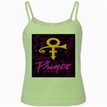 Prince Poster Green Spaghetti Tank Front