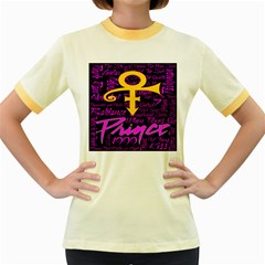 Prince Poster Women s Fitted Ringer T Shirts