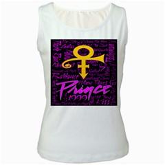 Prince Poster Women s White Tank Top