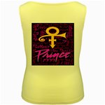 Prince Poster Women s Yellow Tank Top Back