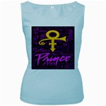 Prince Poster Women s Baby Blue Tank Top Front
