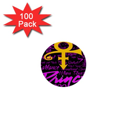 Prince Poster 1  Mini Buttons (100 pack)