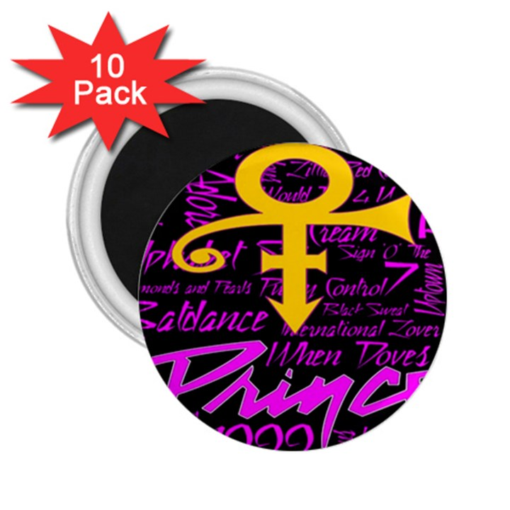 Prince Poster 2.25  Magnets (10 pack)