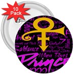 Prince Poster 3  Buttons (10 pack)  Front