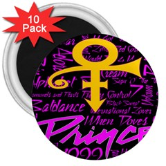 Prince Poster 3  Magnets (10 Pack)