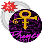Prince Poster 3  Buttons (100 pack)  Front