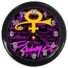 Prince Poster Wall Clocks (black)