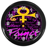 Prince Poster Wall Clocks (Black) Front
